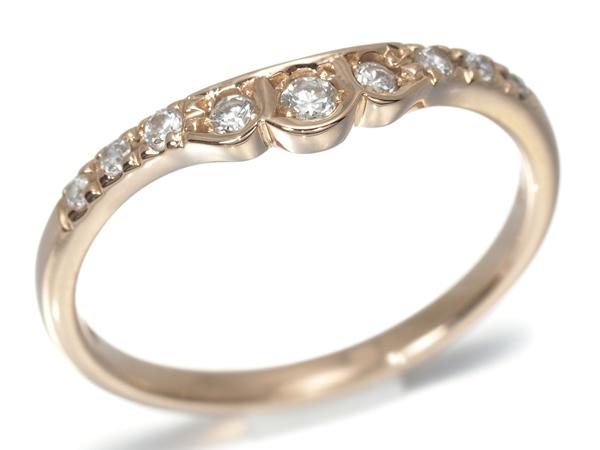 スタージュエリー ダイヤリング 指輪 ダイヤモンド 0.12ct K18PG 限界値下げ品 BLJ 中古 GENJ 8号 春の新作 期間限定特別価格