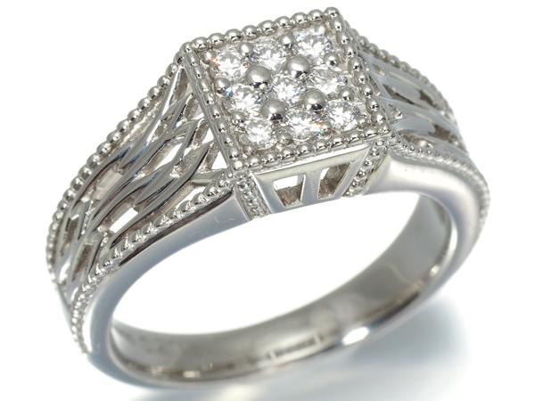 星の砂 リング ダイヤ ダイヤモンド 0.21ct Pt900/プラチナ 11号【中古】BLJ/GENJ
