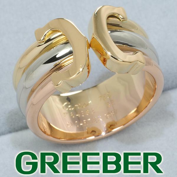 カルティエ リング 指輪 2C ドゥーブルC C2 スリーカラー 52号 K18YG/WG/PG 保証書【中古】BLJ