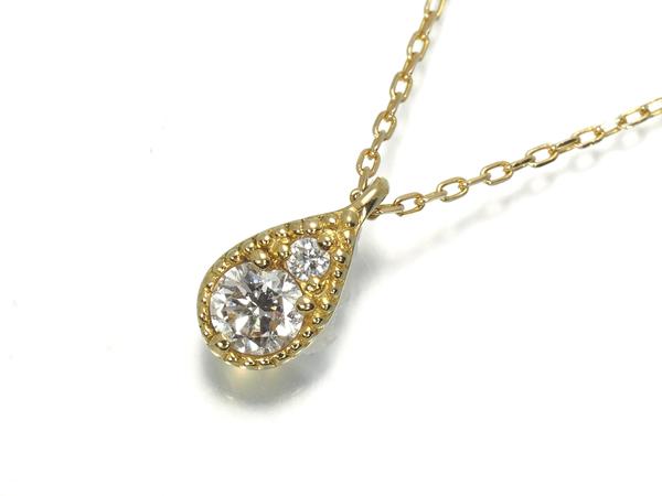 ポンテヴェキオ ネックレス ダイヤ ダイヤモンド K18YG【中古】BLJ