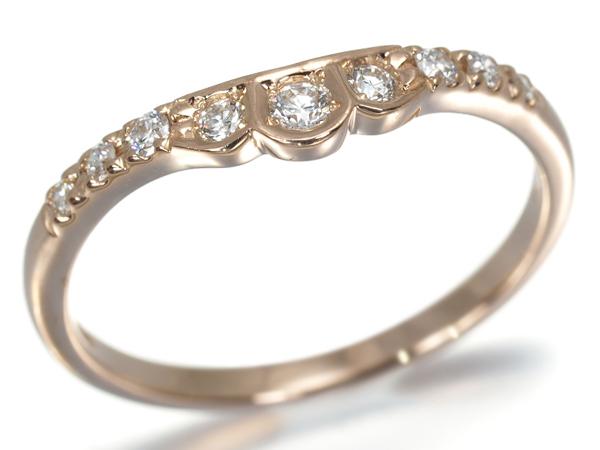 スタージュエリー リング ダイヤ ダイヤモンド 0.12ct K18PG 8号【中古】BLJ/GENJ