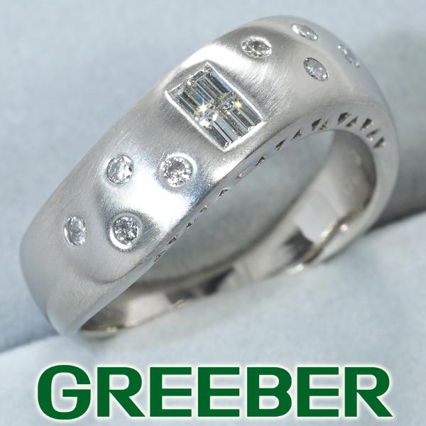 ダイヤ ダイヤモンド 0.30ct バケット リング 指輪 Pt900/プラチナ【中古】GENJ