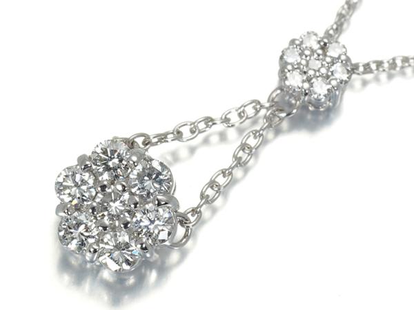 ダイヤ ダイヤモンド 0.40ct ネックレス K18WG【中古】GENJ