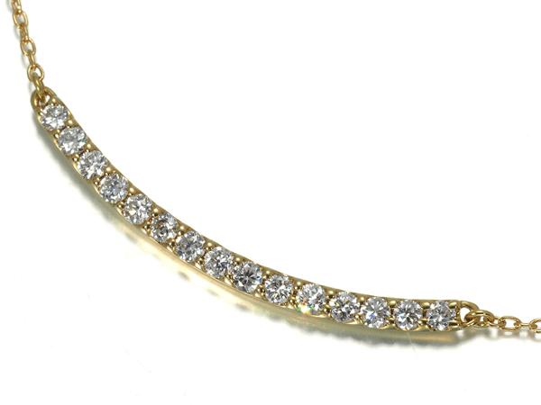 ダイヤ ダイヤモンド 0.30ct ネックレス K18YG【中古】GENJ