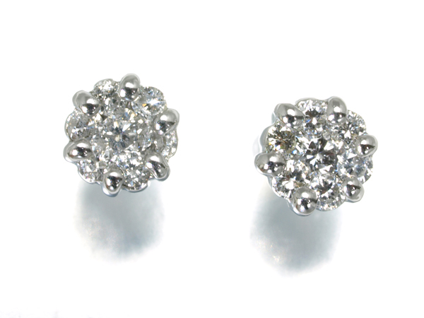 ダイヤ ダイヤモンド 0.16ct ピアス K18/K14WG【中古】GENJ