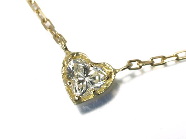 【超大幅値下げ品!】アーカー ネックレス ダイヤ ダイヤモンド カルディア ハート K18YG【中古】BLJ