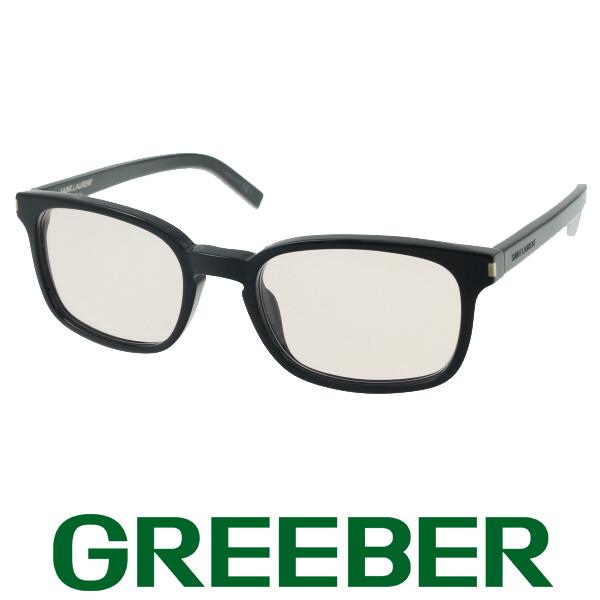 サンローラン メガネフレーム 眼鏡 ブラック ブラウンレンズ SL7【中古】BSK