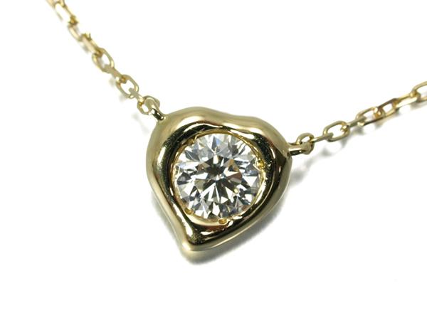 【超大幅値下げ品!】アーカー ネックレス ダイヤ ダイヤモンド メルティー 0.13ct K18YG 箱/保証書【中古】BLJ
