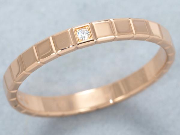 ショパール リング 指輪 1P ダイヤ ダイヤモンド アイスキューブ K18PG 14号 【中古】BLJ