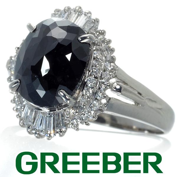 大粒ブラック&クリアダイヤ ダイヤモンド 2.88ct/0.54ct リング 指輪 Pt900/プラチナ【中古】GENJ