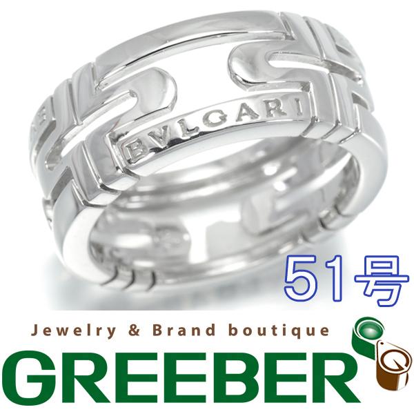【超大幅値下げ品!】ブルガリ リング 指輪 ニューパレンテシ K18WG 51号【中古】BLJ