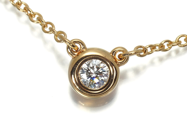 ティファニー ネックレス ダイヤ ダイヤモンド 0.10ct バイザヤード K18PG【中古】BLJ