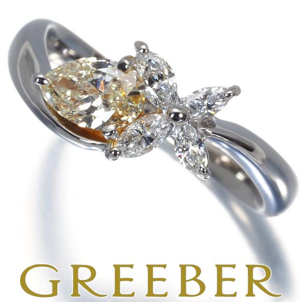 早割クーポン ダイヤリング ダイヤモンド 安心の定価販売 0.445ct 0.21ct GENJ 特別値下げ Pt900 中古