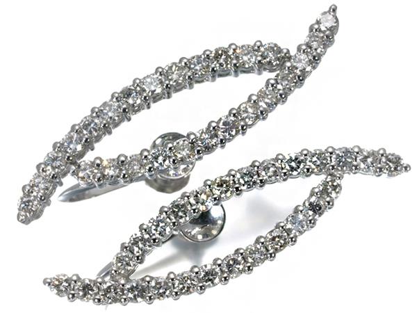 【超大幅値下げ品!】ダイヤ ダイヤモンド イヤリング Pt900/プラチナ【中古】GENJ