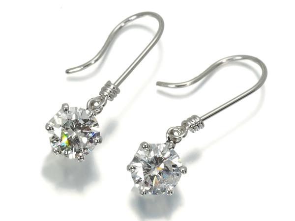 ダイヤ ダイヤモンド 0.32ct 0.33ct 一粒 ピアス Pt900/プラチナ【中古】GENJ