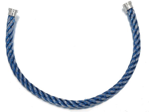 フレッド ブレスレット コード フォース10 LM ブルージーン ケーブル SS 17刻印【中古】BLJ