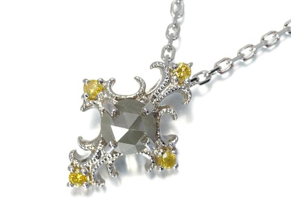 ベーネベーネ ネックレス ダイヤ ダイヤモンド 0.35ct クロス シルバー【中古】BLJ/GENJ