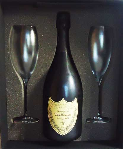 ドンペリニヨン 2006 白 フリュートグラス2脚ドンペリニョンオリジナルグラス付 ハロウィン グラス
