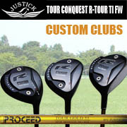 JUSTICKPROCEED R-TOUR CONQUEST TITANIUM FW SHAFT:PROCEED TOUR GOLDジャスティックプロシード ツアーコンクェスト アール ツアー チタン フェアウェイウッドシャフト:プロシード ツアーゴールド