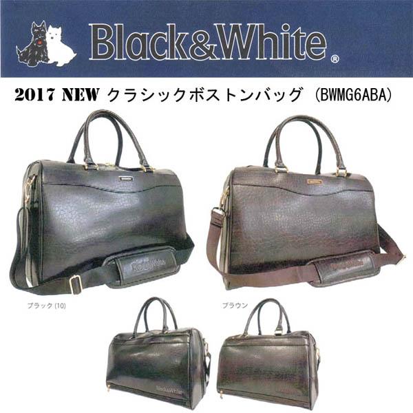Black&White 6A SERIESブラック&ホワイト ボストンバッグ BWMG 6ABA