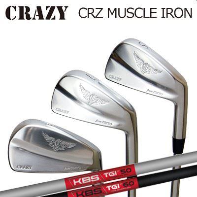 CRAZY CRZ-MUSCLE IRON KBS TOUR GRPHITE IRON TGIクレイジー CRZ マッスル アイアン KBS ツアー グラファイト アイアン6本セット(#5~PW)