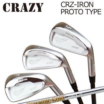 CRAZY CRZ-IRON PROTO TYPE Dynamic Gold 120 VSS / 95 VSS PROクレイジー CRZ アイアン プロトタイプ ダイナミックゴールド 120 VSS / 95 VSS プロ6本セット(#5~PW)