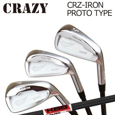 CRAZY CRZ-IRON PROTO TYPE KBS $-Taper Black PVDクレイジー CRZ アイアン プロトタイプ KBS ダラーテーパー ブラックPVD6本セット(#5~PW)