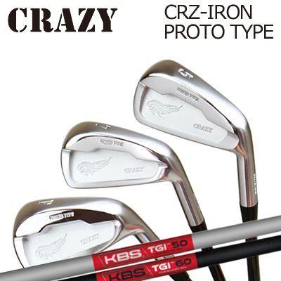 CRAZY CRZ-IRON PROTO TYPE KBS TOUR GRPHITE IRON TGIクレイジー CRZ アイアン プロトタイプ KBS ツアー グラファイト アイアン6本セット(#5~PW)