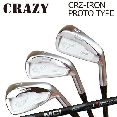 CRAZY CRZ-IRON PROTO TYPE MCI BLACKクレイジー CRZ アイアン プロトタイプ MCI ブラック6本セット(#5~PW)