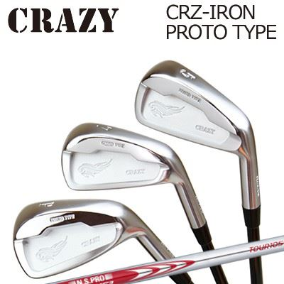 CRAZY CRZ-IRON PROTO TYPE N.S.PRO MODUS3 TOUR105クレイジー CRZ アイアン プロトタイプ NSプロ モーダス3 ツアー1056本セット(#5~PW)