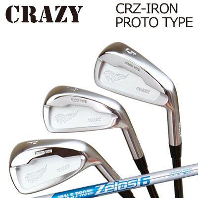 CRAZY CRZ-IRON PROTO TYPE N.S.PRO ZELOS6クレイジー CRZ アイアン プロトタイプ NSプロ ゼロズ66本セット(#5~PW)