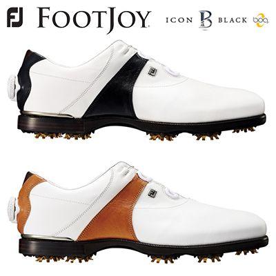 FOOTJOY ICON BLACK Boaフットジョイ アイコン ブラック ボア 52032(ホワイト+ブラウン)/ 52049(ホワイト+ブラック)