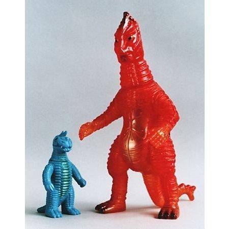 やまなや 怪獣郷 赤色火焔怪獣 バニラ & 復刻 ブルマァクの怪獣シリーズ  ミニ アボラス  のセット