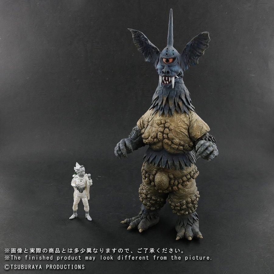 【送料無料】【輸送箱入り】X-PLUS 大怪獣シリーズ ブラックサタン 少年リック限定 宇宙仮面フィギュア付属