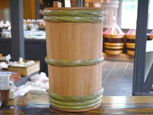 昭和本樽 昔の味噌杉桶 No.30(柿渋仕上げ)
