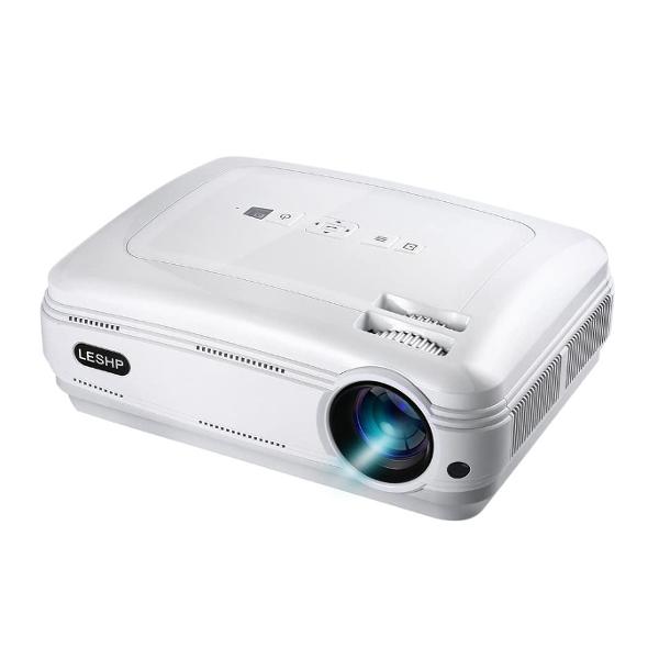 【アウトレット品】 LESHP プロジェクター 3200ルーメン 32~200インチ 最大解像度 1920x1080 HDMIケーブル付 j2591