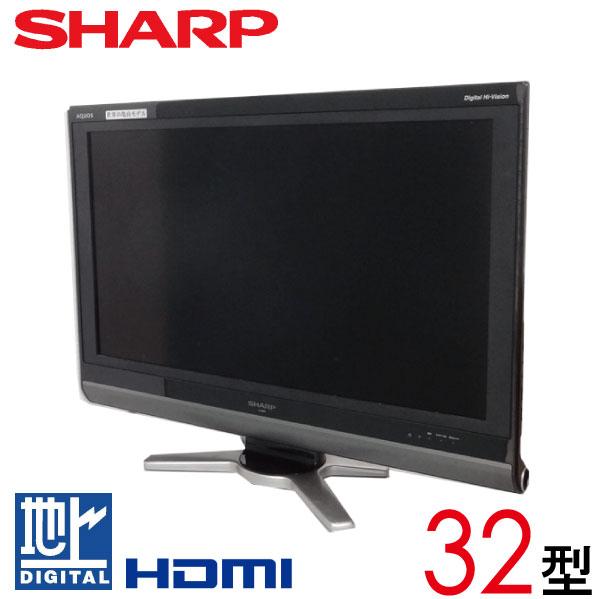 【中古】【マルチリモコン】 SHARP シャープ AQUOS アクオス 液晶テレビ 32型 32インチ 地デジ LC-32DE5 tv-345