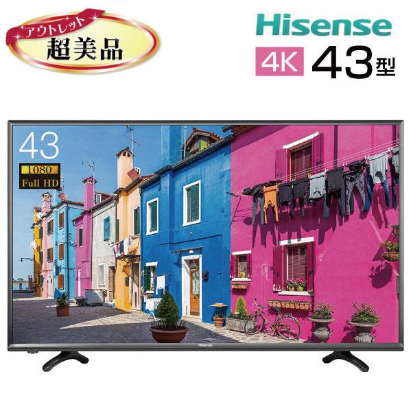 春のコレクション 【中古 新古 tv-257】 Hisense ハイセンス 43インチ 液晶テレビ 4K 43型 43インチ 大型 新古 HJ43K300U tv-257, FILPRAIZ:94928731 --- jf-belver.pt
