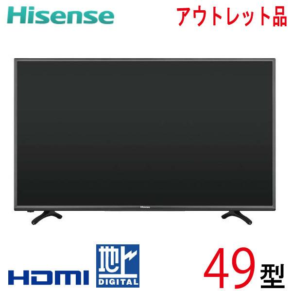 【中古】 Hisense ハイセンス 液晶テレビ フルハイビジョン 49型 49インチ 新古 HJ49K3120 tv-277