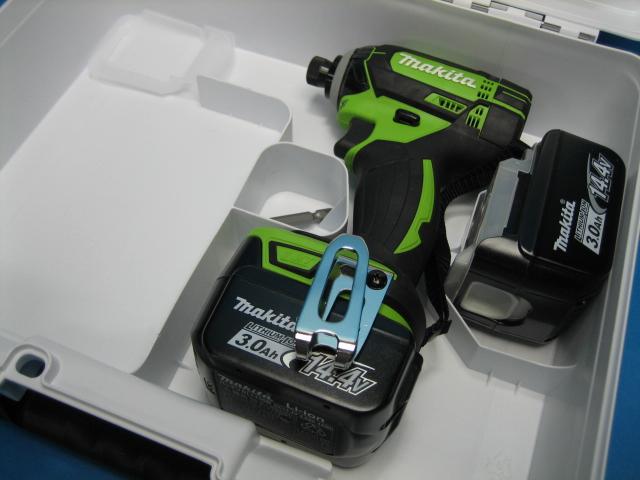 【特別セット】マキタ充電インパクトドライバ TD138DZL(ライム)14.4V 本体・バッテリー2個・ケースセット