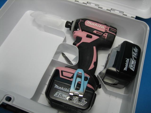 【特別セット】マキタ充電インパクトドライバ TD138DZP(ピンク)14.4V 本体・バッテリー2個・ケースセット