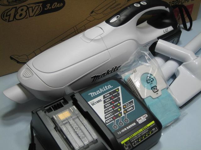 マキタ充電式クリーナ CL182FDRFW 18V セット 紙パック式 1年保証付