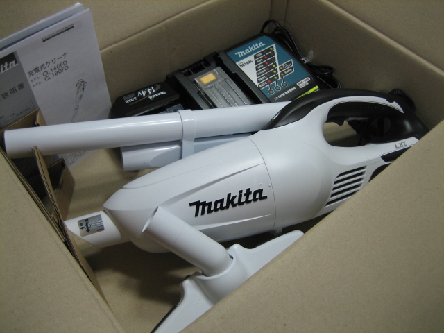マキタ充電式クリーナ CL140FDRFWT 14.4V(6.0Ah)特別セット カプセル式 当店特別 本体のみ(CL140FDZW)+充電器(DC18RF)+バッテリー(BL1460B) 1年保証付