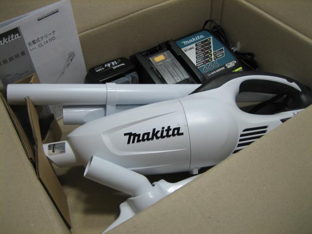 マキタ充電式クリーナ CL141FDRFWO 14.4V(3.0Ah)オリジナルセット カプセル式 当店オリジナル 本体のみ(CL141FDZW)+充電器(DC18RF)+バッテリー(BL1430B) 1年保証付