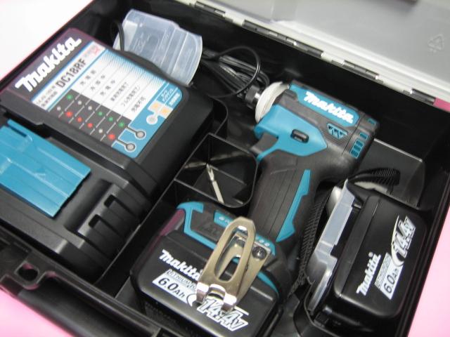 マキタ充電インパクト TD161DRGX(青) 14.4V バッテリー(6.0Ah)2個・充電器(DC18RF)セット