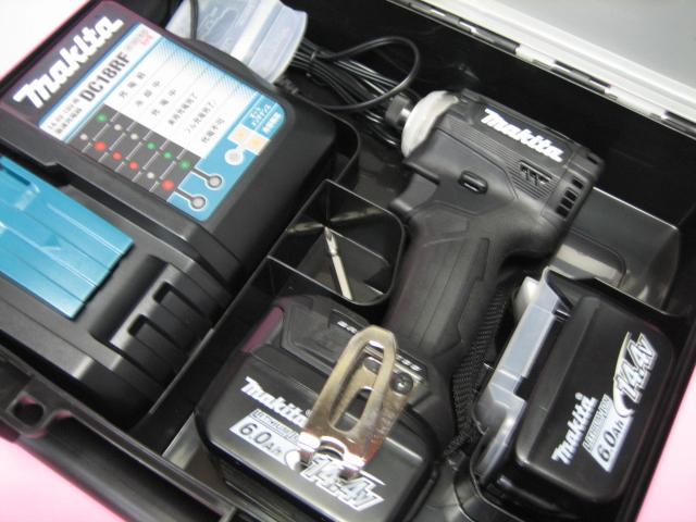 マキタ充電インパクト TD161DRGXB(黒) 14.4V バッテリー(6.0Ah)2個・充電器(DC18RF)セット