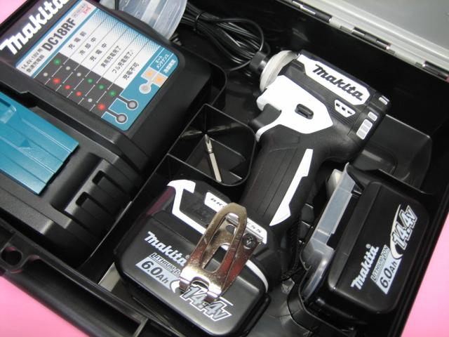 マキタ充電インパクト TD161DRGXW(白) 14.4V バッテリー(6.0Ah)2個・充電器(DC18RF)セット