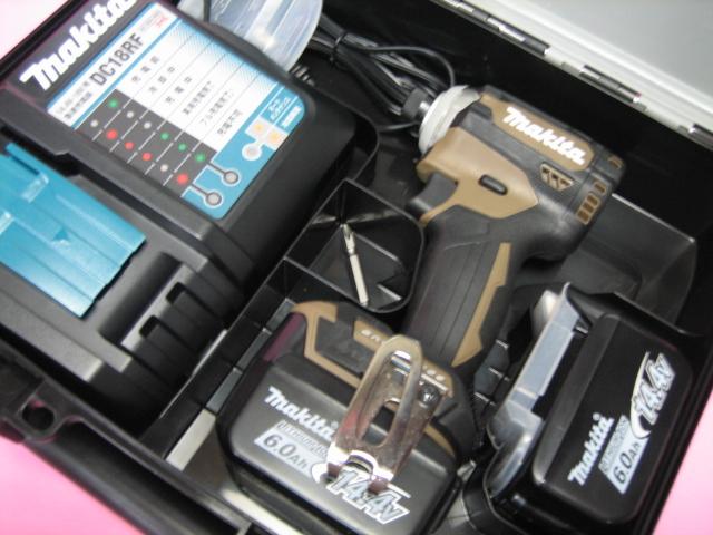 マキタ充電インパクト TD161DRGXAB(オーセンティックブラウン) 14.4V バッテリー(6.0Ah)2個・充電器(DC18RF)セット