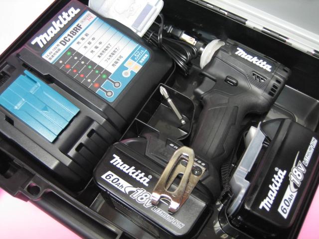 マキタ充電インパクト TD171DRGXB(黒) 18V バッテリー(6.0Ah)2個・充電器(DC18RF)セット