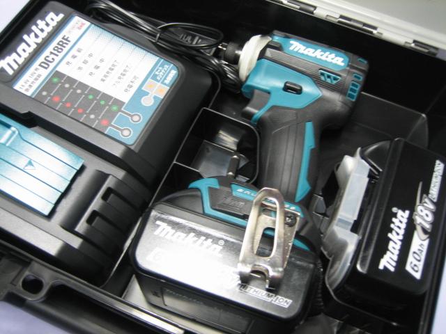 マキタ充電インパクト TD171DRGX(青) 18V バッテリー(6.0Ah)2個・充電器(DC18RF)セット